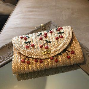 Handbags - Women's cherry summer bag.